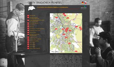 web k infostezce v Novém Boru